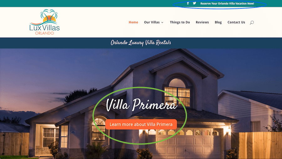 travel call-to-action for Luxury Villas Orlando